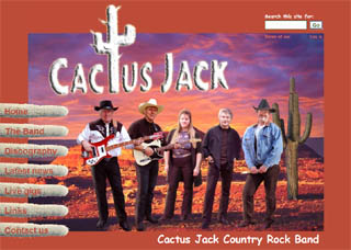 Cactus Jack website design