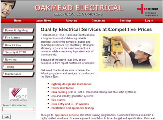 Oakmead Electrical website design