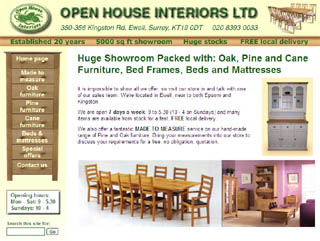 Open House Interiors website design